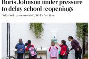 英媒:1500名军人协助学校开展学生入校核酸检测