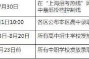 上海中考成绩7月19日公布 八年级历史科目成绩7月23日公布